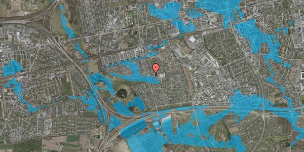 Oversvømmelsesrisiko fra vandløb på Pilehavevænge 35, 2625 Vallensbæk