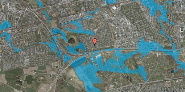 Oversvømmelsesrisiko fra vandløb på Pilehavevænge 36, 2625 Vallensbæk