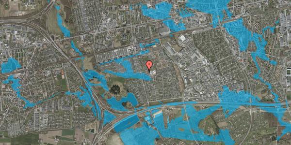 Oversvømmelsesrisiko fra vandløb på Pilehavevænge 39, 2625 Vallensbæk