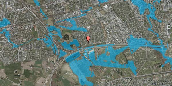 Oversvømmelsesrisiko fra vandløb på Pilehavevænge 40, 2625 Vallensbæk
