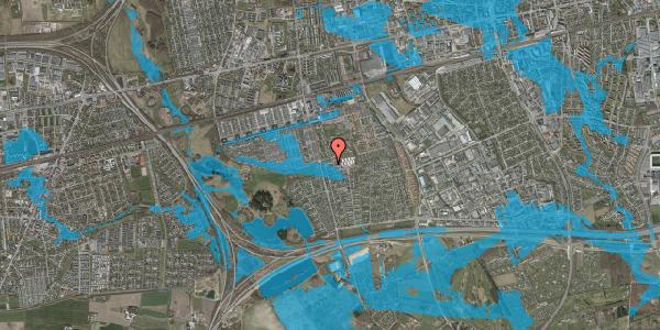 Oversvømmelsesrisiko fra vandløb på Pilehavevænge 43, 2625 Vallensbæk