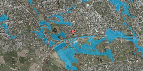 Oversvømmelsesrisiko fra vandløb på Pilehavevænge 44, 2625 Vallensbæk