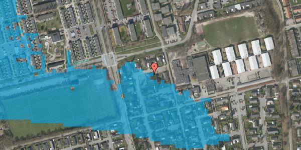 Oversvømmelsesrisiko fra vandløb på Pilehavevænge 45, 2625 Vallensbæk