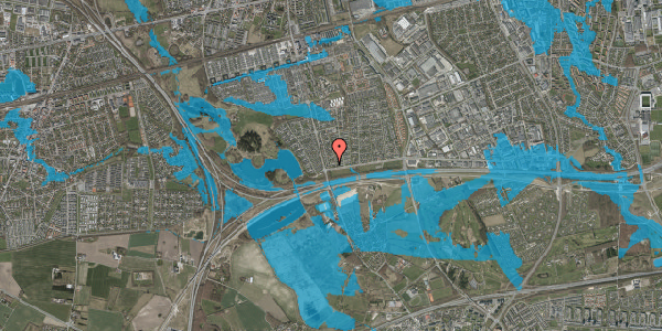 Oversvømmelsesrisiko fra vandløb på Pilehavevænge 48, 2625 Vallensbæk