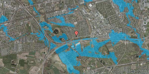 Oversvømmelsesrisiko fra vandløb på Pilehavevænge 50, 2625 Vallensbæk