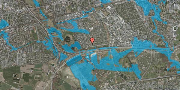 Oversvømmelsesrisiko fra vandløb på Pilehavevænge 54, 2625 Vallensbæk