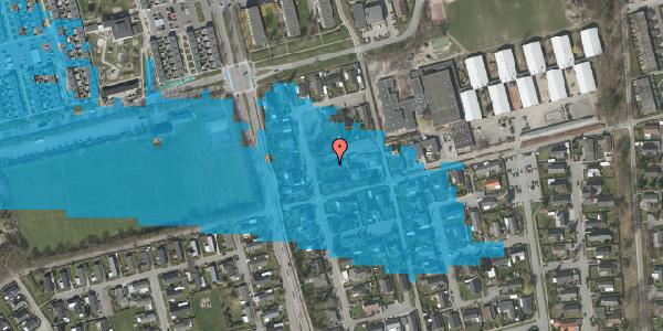 Oversvømmelsesrisiko fra vandløb på Pilehavevænge 59, 2625 Vallensbæk
