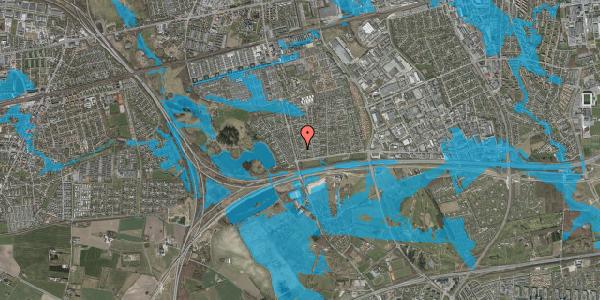 Oversvømmelsesrisiko fra vandløb på Pilehavevænge 64, 2625 Vallensbæk