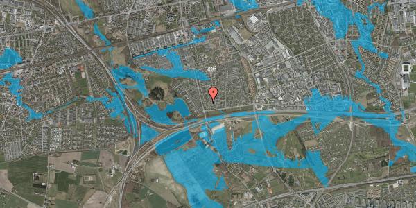 Oversvømmelsesrisiko fra vandløb på Pilehavevænge 66, 2625 Vallensbæk