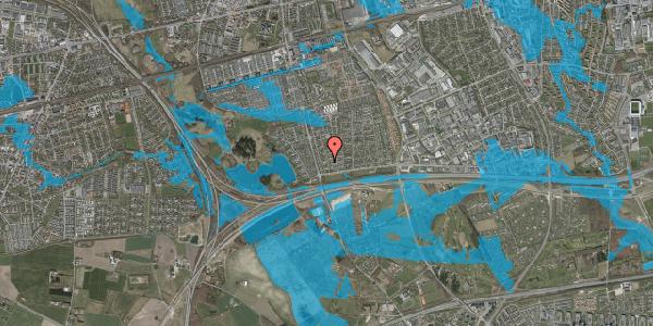 Oversvømmelsesrisiko fra vandløb på Pilehavevænge 68, 2625 Vallensbæk