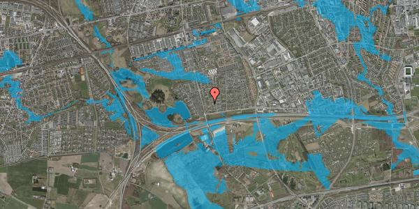 Oversvømmelsesrisiko fra vandløb på Pilehavevænge 70, 2625 Vallensbæk