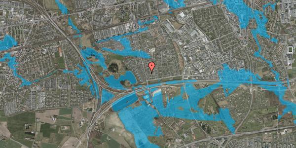 Oversvømmelsesrisiko fra vandløb på Pilehavevænge 74, 2625 Vallensbæk