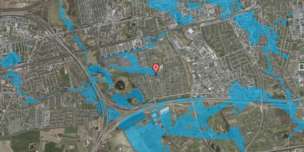 Oversvømmelsesrisiko fra vandløb på Pilehavevænge 79, 2625 Vallensbæk