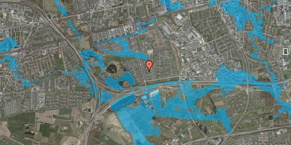 Oversvømmelsesrisiko fra vandløb på Pilehavevænge 80, 2625 Vallensbæk