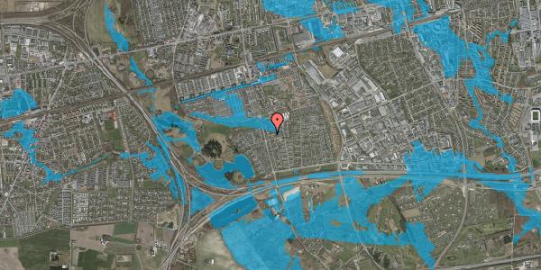 Oversvømmelsesrisiko fra vandløb på Pilehavevænge 83, 2625 Vallensbæk