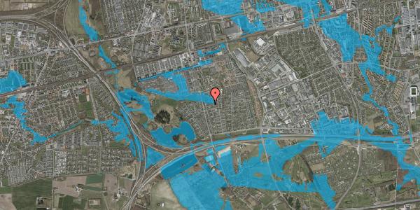 Oversvømmelsesrisiko fra vandløb på Pilehavevænge 87, 2625 Vallensbæk