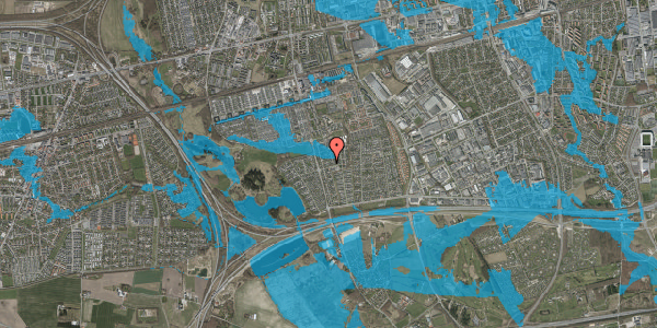 Oversvømmelsesrisiko fra vandløb på Pilehavevænge 89, 2625 Vallensbæk