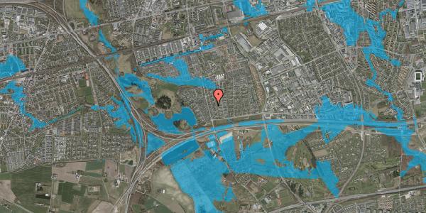Oversvømmelsesrisiko fra vandløb på Pilehavevænge 90, 2625 Vallensbæk