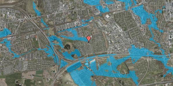 Oversvømmelsesrisiko fra vandløb på Pilehavevænge 91, 2625 Vallensbæk