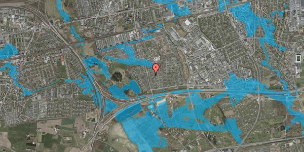 Oversvømmelsesrisiko fra vandløb på Pilehavevænge 104, 2625 Vallensbæk