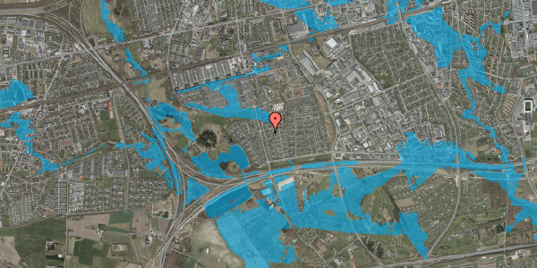 Oversvømmelsesrisiko fra vandløb på Pilehavevænge 114, 2625 Vallensbæk