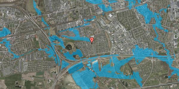 Oversvømmelsesrisiko fra vandløb på Pilehavevænge 118, 2625 Vallensbæk