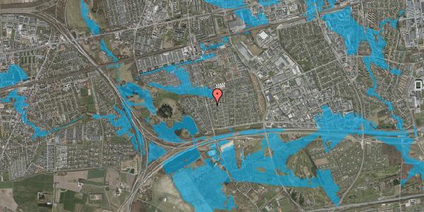 Oversvømmelsesrisiko fra vandløb på Pilehavevænge 122, 2625 Vallensbæk