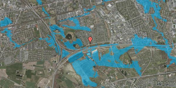 Oversvømmelsesrisiko fra vandløb på Rendsagervej 6, 2625 Vallensbæk