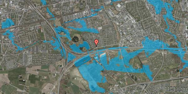 Oversvømmelsesrisiko fra vandløb på Rendsagervej 14, 2625 Vallensbæk