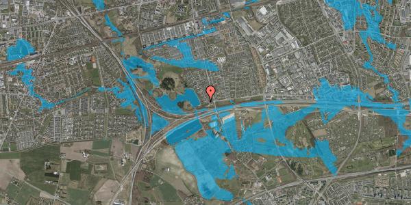 Oversvømmelsesrisiko fra vandløb på Rendsagervej 15, 2625 Vallensbæk
