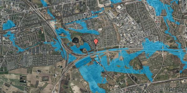 Oversvømmelsesrisiko fra vandløb på Rendsagervej 16, 2625 Vallensbæk