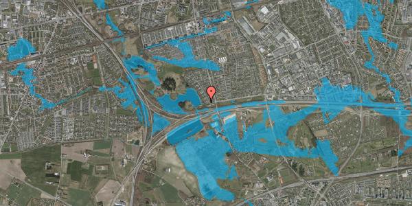 Oversvømmelsesrisiko fra vandløb på Rendsagervej 17, 2625 Vallensbæk