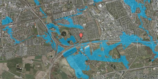 Oversvømmelsesrisiko fra vandløb på Rendsagervej 18, 2625 Vallensbæk
