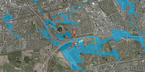 Oversvømmelsesrisiko fra vandløb på Rendsagervej 19, 2625 Vallensbæk