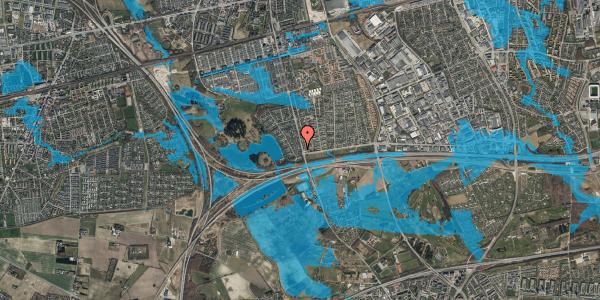 Oversvømmelsesrisiko fra vandløb på Rendsagervej 26, 2625 Vallensbæk