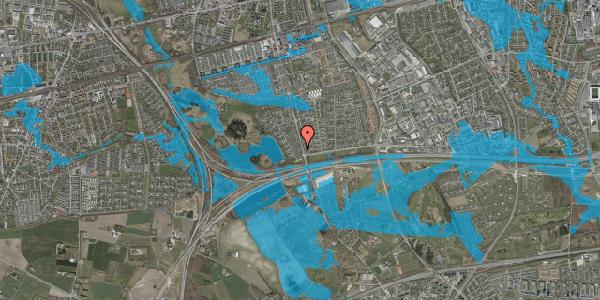 Oversvømmelsesrisiko fra vandløb på Rendsagervej 28, 2625 Vallensbæk