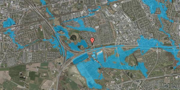 Oversvømmelsesrisiko fra vandløb på Rendsagervej 29, 2625 Vallensbæk