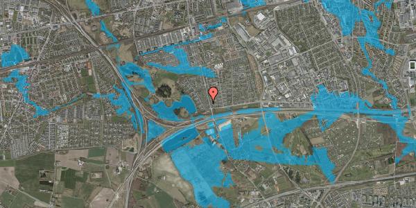 Oversvømmelsesrisiko fra vandløb på Rendsagervej 30, 2625 Vallensbæk