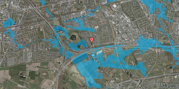 Oversvømmelsesrisiko fra vandløb på Rendsagervej 31, 2625 Vallensbæk