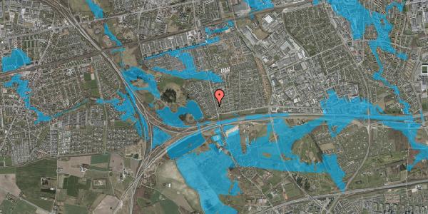 Oversvømmelsesrisiko fra vandløb på Rendsagervej 34, 2625 Vallensbæk