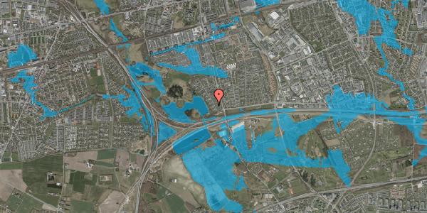 Oversvømmelsesrisiko fra vandløb på Rendsagervej 35, 2625 Vallensbæk