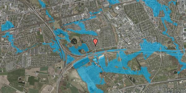 Oversvømmelsesrisiko fra vandløb på Rendsagervej 36, 2625 Vallensbæk