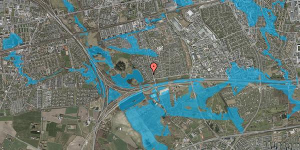 Oversvømmelsesrisiko fra vandløb på Rendsagervej 38, 2625 Vallensbæk