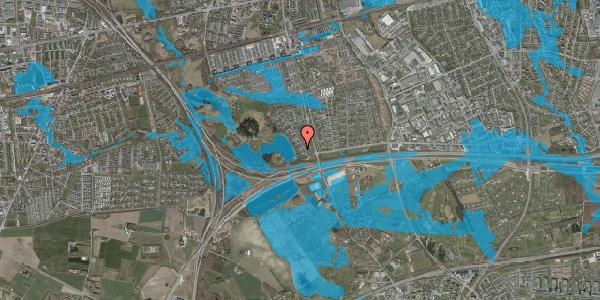 Oversvømmelsesrisiko fra vandløb på Rendsagervej 39, 2625 Vallensbæk