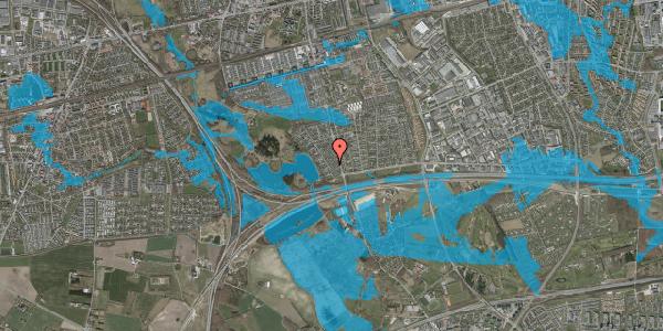 Oversvømmelsesrisiko fra vandløb på Rendsagervej 40, 2625 Vallensbæk