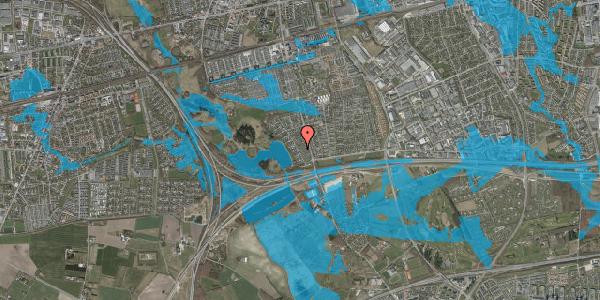 Oversvømmelsesrisiko fra vandløb på Rendsagervej 44, 2625 Vallensbæk