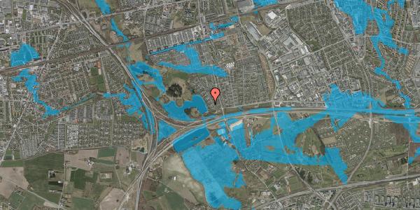 Oversvømmelsesrisiko fra vandløb på Rendsagervej 45, 2625 Vallensbæk