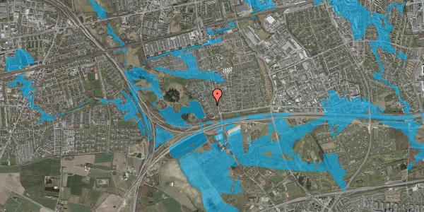 Oversvømmelsesrisiko fra vandløb på Rendsagervej 46, 2625 Vallensbæk