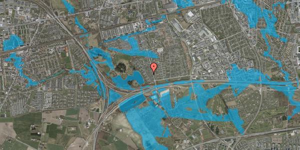Oversvømmelsesrisiko fra vandløb på Rendsagervej 48, 2625 Vallensbæk