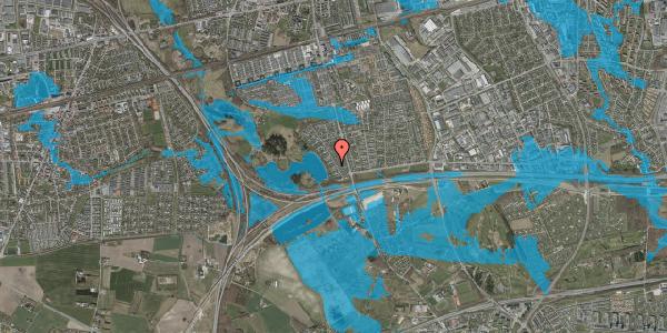 Oversvømmelsesrisiko fra vandløb på Rendsagervej 49, 2625 Vallensbæk